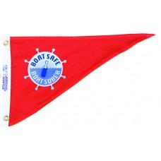 "10x15"" Nylon Boat Safe Pennant"
