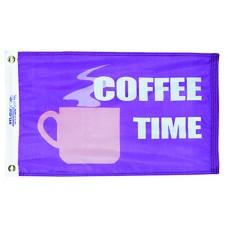 """12x18"""" Nylon Coffee Time Flag"""