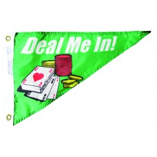"10x15"" Nylon Deal Me In Pennant"