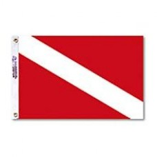 "12x18"" Nylon Dive Flag"