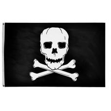 """12x18"""" Nylon Jolly Roger Flag"""