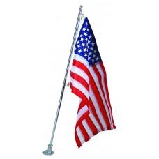 Aluminum Marine Flagpole (Without Flag)