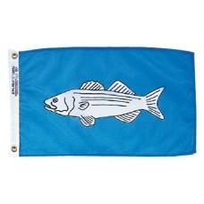 "12x18"" Nylon Striped Bass Flag"