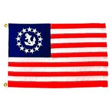 "12x18"" Nylon U.S. Yacht Ensign Flag"