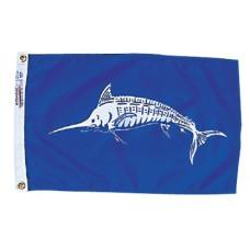 """12x18"""" Nylon White Marlin Flag"""