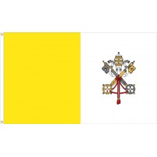 "4x6"" Hand Held Papal Flag"