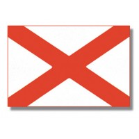 "8x12"" Alabama Hand Held Flag"