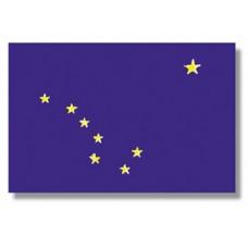 "4x6"" Hand Held Alaska Flag"