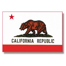 "4x6"" Hand Held California Flag"