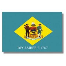 """4x6"""" Hand Held Delaware Flag"""