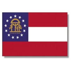 "4x6"" Hand Held Georgia Flag"