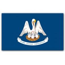 """4x6"""" Hand Held Louisiana Flag"""