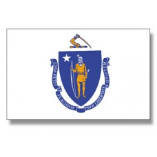 "4x6"" Hand Held Massachusetts Flag"