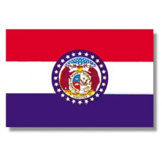 "4x6"" Hand Held Missouri Flag"