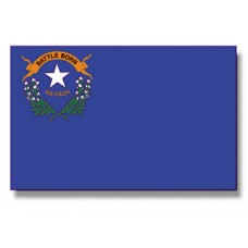 "4x6"" Hand Held Nevada Flag"