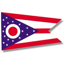 "4x6"" Hand Held Ohio Flag"