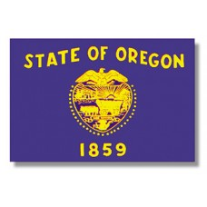 "4x6"" Hand Held Oregon Flag"