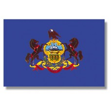 "4x6"" Hand Held Pennsylvania Flag"