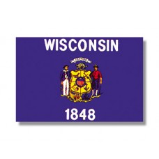"4x6"" Hand Held Wisconsin Flag"
