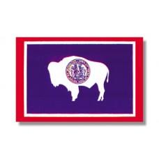 """4x6"""" Hand Held Wyoming Flag"""