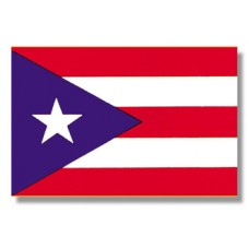 "4x6"" Hand Held Puerto Rico Flag"